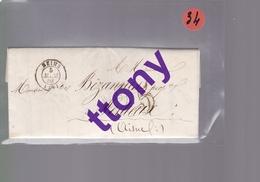 1 Lettre  Reims  4 Mars 1859   Destination Festieux - Marcofilia (sobres)