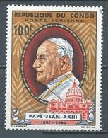 Congo Poste Aérienne YT N°29 Pape Jean XXIII Oblitéré ° - Kongo - Brazzaville
