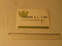 Buvard Assurance L'Urbaine & La Seine. - Bank & Insurance