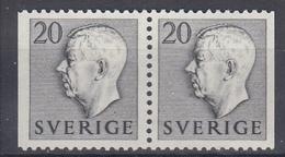 +Sweden 1953. King Gustav Adolf. Pair. Michel 369. MNH(**) - Sweden