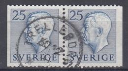 +Sweden 1954. King Gustav Adolf. Pair. Michel 391. Used - Sweden
