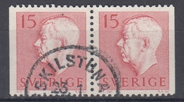 +Sweden 1957. King Gustav Adolf. Pair. Michel 424. Used - Sweden
