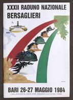 Brochure XXXII Raduno Nazionale Bersaglieri - Bari 26-27 Maggio 1984 - Dokumente