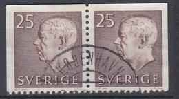 +Sweden 1961. King Gustav Adolf. Pair. Michel 478. Used, Cancelled Copenhagen/ Denmark - Sweden