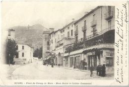 CPA Nyons Place Du Champ De Mars Mont Deves Et Collège - Nyons