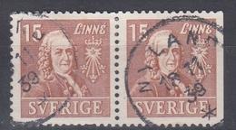 +Sweden 1939. Linné. Pair. Michel 273B/Dr. Used - Sweden