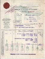 13 . BOUCHE DU RHONE . FACTURE / LETTRE . MARSEILLE . RHUM ST JAMES . 1943 - Francia