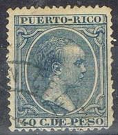 Sello 40 Cts PUERTO RICO, Colonia Española 1891, Num 99 º - Puerto Rico