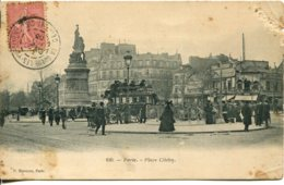 CPA - PARIS - PLACE CLICHY - Places, Squares