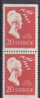 +Sweden 1958. Selma Lagerlöf. Pair. Michel 443. MNH(**) - Sweden