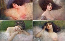 Lot De 8 Cpa Illustrateur Guerzoni Ou Guerinoni X 6 Femme Et 2 Monuments - Guerinoni