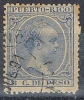 Sello 8 Cts PUERTO RICO, Colonia Española 1890, Num 81 º - Puerto Rico