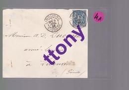 1 Timbre  15 C  Type Sage  Libourne  Année  1886    Sur  Un Gragment D'enveloppe - Postmark Collection (Covers)