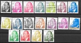 S98  18 Stamps Juan Carlos  Used - Oblit. - 1931-Today: 2nd Rep - ... Juan Carlos I
