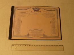 Sous Main Buvard Détachable. L'Urbaine. Reste Buvard Juillet/août 1922 Et Novembre/décembre 1922. - Bank & Insurance
