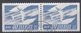 +Sweden 1961. SAS. Pair. Michel 467. Used - Sweden