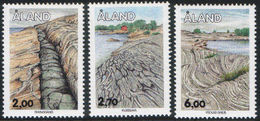 Aland 1993 Finland-Aland The Bedrock Of Aland Rock Formations Nature Environment Minerals Stamps MNH Michel 75-77 - Minerales