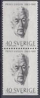 +Sweden 1965. Prince Eugen. Pair. Michel 536. MNH(**) - Sweden