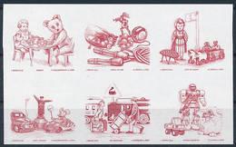 Mi 2194-99 Proof Épreuve / Children's Toys, Teddy Bear, LEGO Car, Transformer, Gremlin, Schuco - Proofs & Reprints