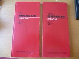 Guide Michelin : LOT De 2 - ESPAGNE 1969 Et 1971- Détails Voir Les Scans - Michelin (guides)