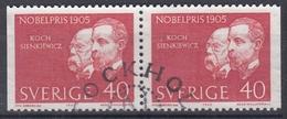 +Sweden 1965. Nobel Price 1905. Pair. Michel 543. Used - Sweden