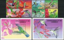 DOMINICA 1992 Hummingbirds Birds Animals Fauna MNH - Colibris