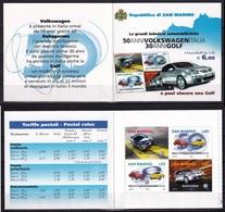 San Marino 2004 Volkswagen Cars Booklet MNH - Cars