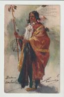 """CPA / IUNDIEN DE L'AMERIQUE / CACHET DE NEW-YORK / CACHET Cie. TRANSATLANTIQUE""""LA LORRAINE"""": / 1904 - Indiaans (Noord-Amerikaans)"""