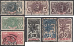 Dahomey 1906-1907 - N° 18 à 32 (YT) N° 18 à 32 (AM) Oblitérés. 15 Valeurs. - Usados