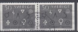 +Sweden 1962. Industry. Pair. Michel 506. Used - Sweden