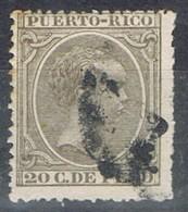 Sello 20 Cts PUERTO RICO, Colonia Española 1896, Num 127 º - Puerto Rico