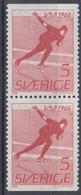 +Sweden 1966. Sport : Skating. Pair. Michel 546. MNH(**) - Sweden