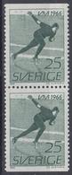 +Sweden 1966. Sport : Skating. Pair. Michel 547. MNH(**) - Sweden