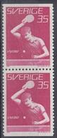+Sweden 1967. Sport : Table Tennis. Pair. Michel 578. MNH(**) - Sweden