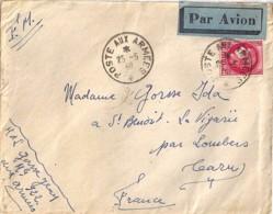 TYPE CERES N°373 + FM SUR LETTRE DE BEYROUTH/SP 600 POUR LOUBERS-TARN/1940 - Francia