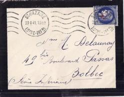 TYPE CERES N°486 SUR LETTRE DE ST NAZAIRE/29.1.41 - Francia