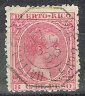 Sello 8 Cts PUERTO RICO, Colonia Española 1896, AMBULANTE HAITI A Port De France, Num 126 º - Puerto Rico