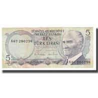 Billet, Turquie, 5 Lira, 1970, 1970-10-14, KM:179, TTB - Türkei