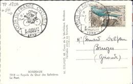 TP N° 1203 SUR CP DE BORDEAUX/TOUR DE FRANCE CYCLISTE/2.7.59 - Poststempel (Briefe)