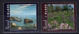Aland 2004 Landscapes Flower Tree Plant Nature Tourism Coastline Geography Places 2v Stamps MNH - Unclassified