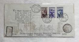 Fiera Di Trieste 30/06/1951 - 2° Centenario Servizio Postale Diretto Udine-Trieste-Udine 1751-1951 - 7. Triest