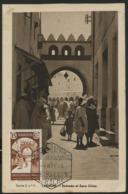 """1946 MAROC ESPAGNOL N° 300 Sur CARTE MAXIMUM, Oblitéré C-à-d """"Larache 9/5/46"""". 15ct Brun """"Porte De Larache"""". TB - Spanisch-Marokko"""