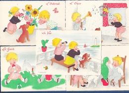 BURGUIERE - Les Cinq Sens - BARRE DAYEZ - Lot De 5 Cartes - Illustrateurs & Photographes