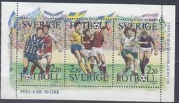+Sweden 1988. Sport: Football. Sheetlet From Booklet. Michel 161. MNH(**) - Blocks & Sheetlets