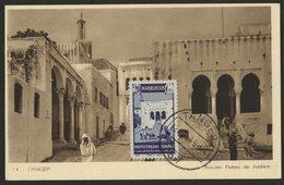 """1945 MAROC ESPAGNOL N° 323 Sur CARTE MAXIMUM, Oblitéré C-à-d """"TANGER 12/10/45"""". 20ct """"Palais De Justice à Tanger"""". TB - Spanisch-Marokko"""