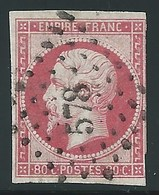 FRANCE - CLASSIQUE. 80 Ct Carmin. NAPOLEON III  N°17A. Cote 65€. - 1853-1860 Napoleone III