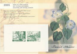 Mi 2248-49 Proof Épreuve, Joint Issue Australia / Scientist, Naturalist, Daniel Solander, Botany, Flowers - Proofs & Reprints