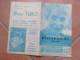 NAPOLI Cinema MODERNISSIMO L.10 Programma Film I 600 Di Balaklava Trevor Howard Vanessa Redgrave  Pubblicità Epoca - Programs