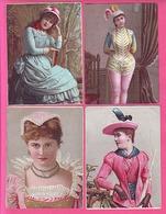CHROMO ANCIENNE LOT DE 9 CHICOREE D'ALSACE D.VOELKER-COUMES A BAYON PORTRAITS DE FEMMES COIFFES COSTUMES  ENSEMBLE RARE - Chromos