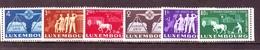 1951 LUSSEMBURGO  CONSIGLIO D'EUROPA MNH** 6 VALORI COMPLETA - Luxembourg